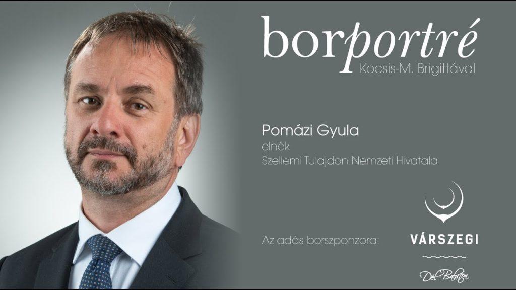 Pomázi Gyula, a Szellemi Tulajdon Nemzeti Hivatala elnöke | BorPortré 2020-04-23