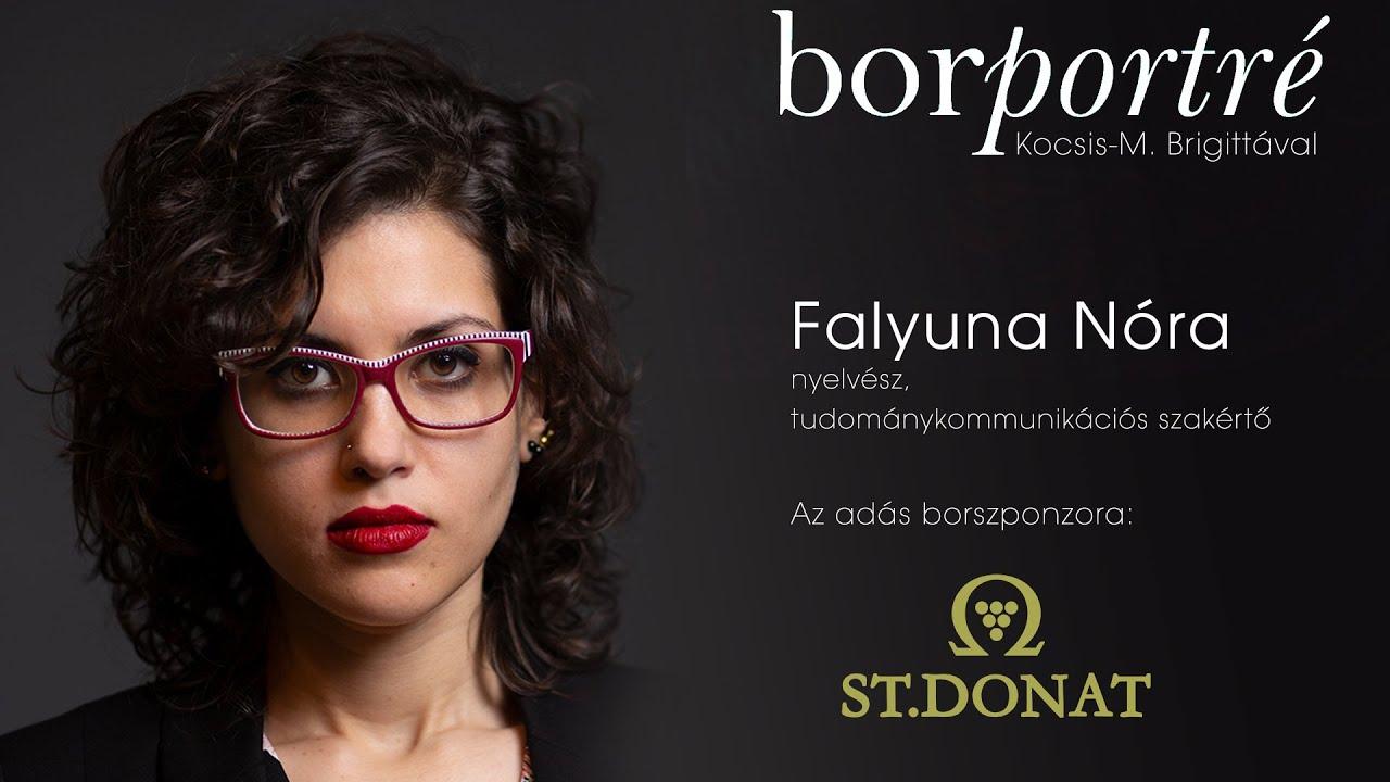 Falyuna Nóra nyelvész, tudománykommunikációs szakértő   BorPortré 2021-06-02